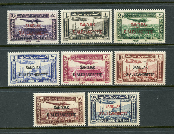 Alexandretta Syria Syrie Scott C1-8 Mint NH Set