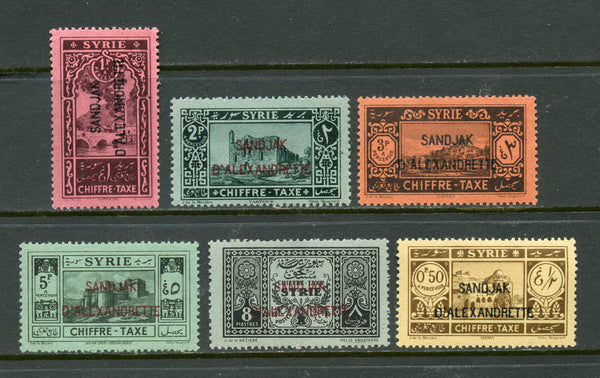 Alexandretta Syria Syrie Scott J1-6 Mint NH Set