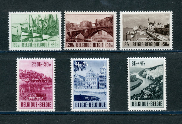 Belgium Scott B538-43 Mint H Crease In Low Value
