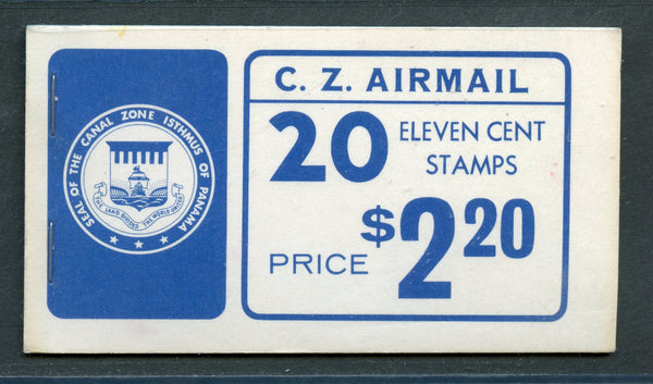 US Canal Zone C49a Fresh Booklet