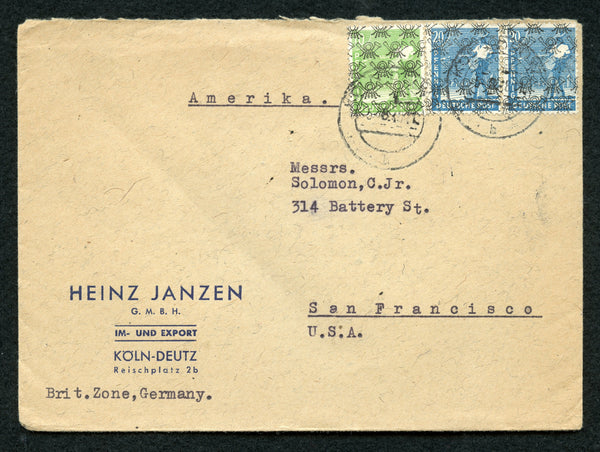 Germany Cover From British Zone to San Francisco