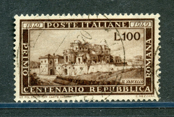 Italy Scott 518 Centenary Republic VF Used