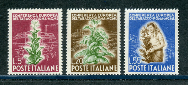 Italy Scott 544-46, SA 629-31 Mint NH Set