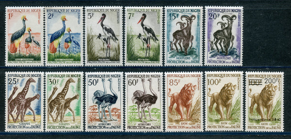 Niger Scott 91-103 Animals Birds Mint NH Set