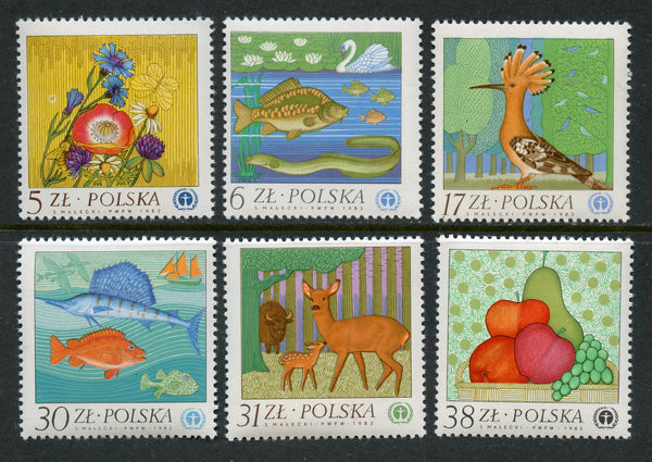 Poland 2551-61 Mint NH Set
