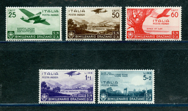 Italy Scott C84-88 VF XLH Mint Set