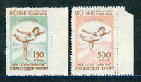 North Vietnam Scott 67-68 Margin copies Mint No Gum As Issued
