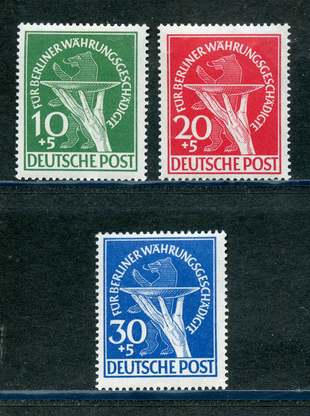 Germany Berlin Scott 9NB1-3,Mi.68-70 Mint NH Set $375.00