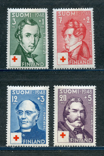 Finland Scott B87-90 Mint NH Ser Red Cross