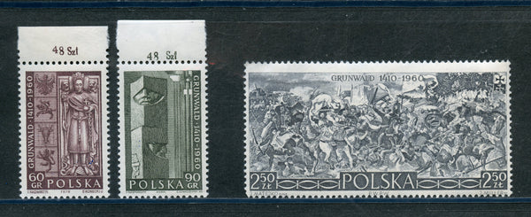 Poland Scott 922-24 Mint Mh Set