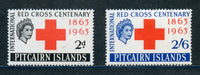 Pitcairn Islands 36-37 Red Cross Mint NH Set
