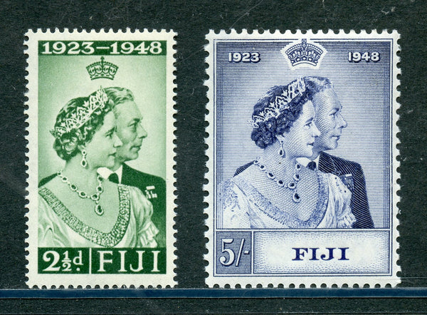 Figi Scott 139-40 KGVI 1948 Silver Wedding Mint NH