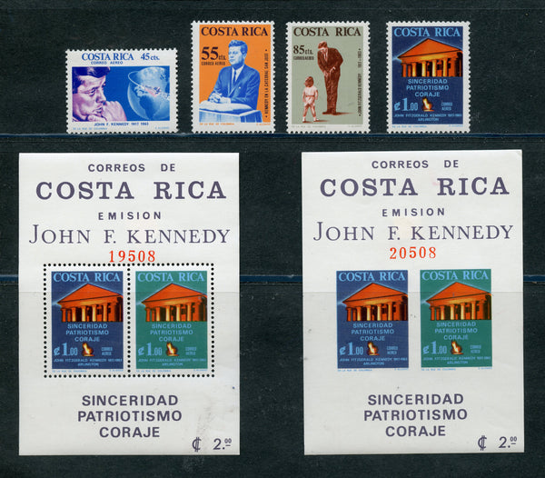 Costa Rica Scott C417-20,C429a Perf. &  Imperf Kennedy Mint NH