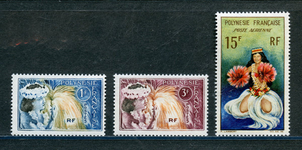 French Polynesia Scott 208-9, C30 Mint NH