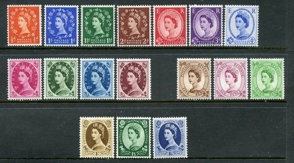 Great Britain Scott 317-33 QEII Wmk 308 Mint NH Set