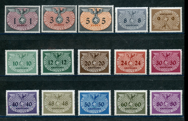 Poland Scott NO1-15 Mint NH Set