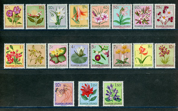 Ruanda Urundi Scott 114-22 Flowers Mint NH