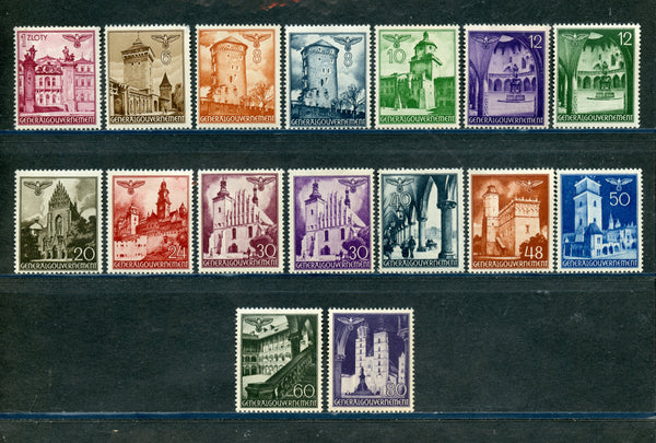 Poland Scott N56-71 Mint NH Set