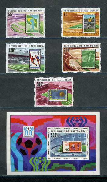 UPPER VOLTA Scott 456-61 SOCCER MINT NH