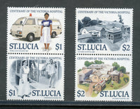 St Lucia Scott 894-95 Hospital Se-tenant Mint NH Set