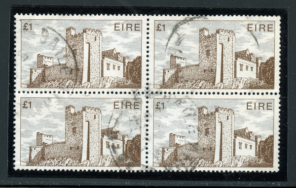 Ireland  Cahil Castle Used block of 4 SCARCE