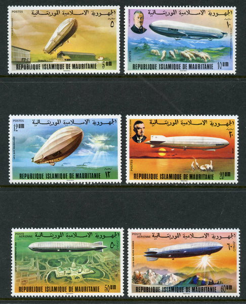 Mauritania Scott 345-8, C167-68 Mint NH Aeronautics