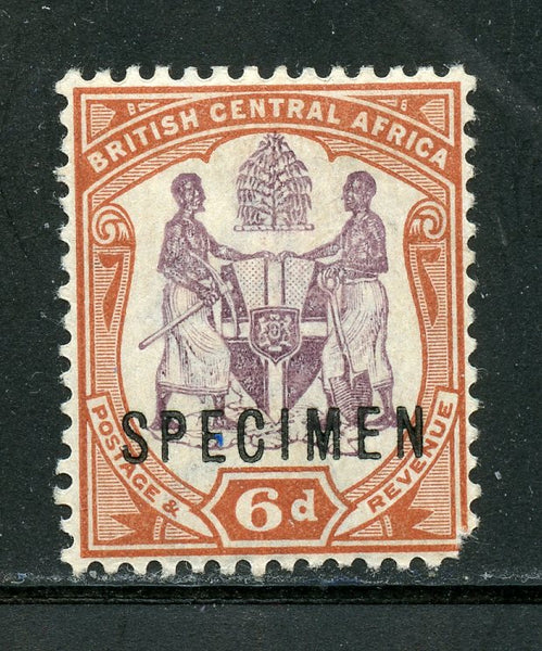 British Central Africa Scott49 Specimen Mint Missing Corner LH