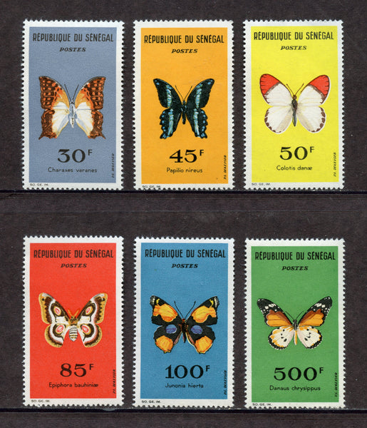 France Senegal Scott 221-26 Butterflies Mint NH Set