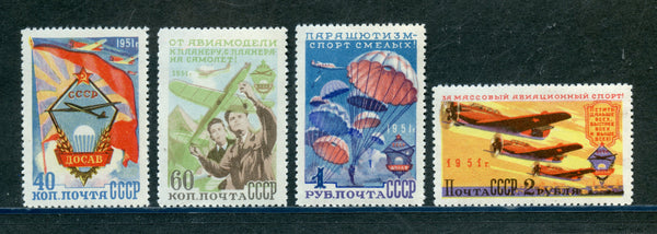 Russia Scott 1590-93 Promoting Aviation Mint NH Set