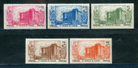 French Polynesia Scott B6-10 Mint Hinge Remnant Set Castle