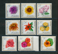 Poland Scott 1430-38 Flowers Mint NH Set