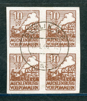 Mecklenburg Scott 422 Used Imperf Block 4