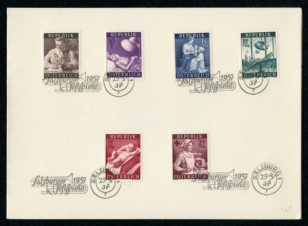 Austria Scott B288-93 Salzburger 1957 Folder