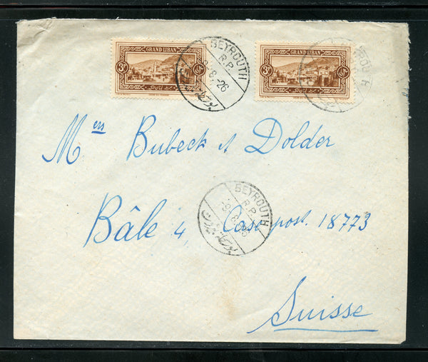 Lebanon Liban 1926 Cover Switzerland