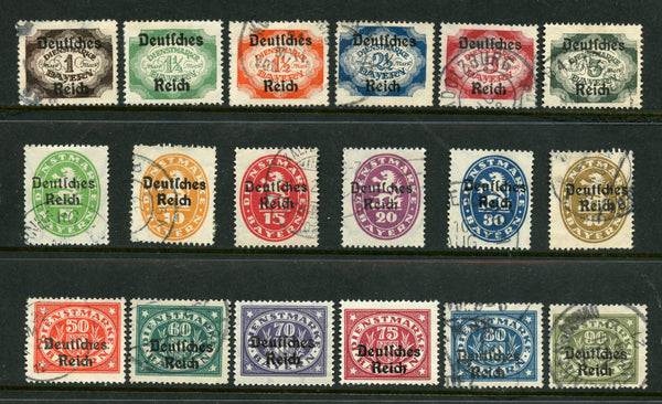 Bavaria German State Scott O52-69 Used