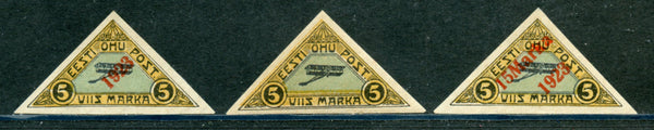 Estonia Sott C1-3 Triangles Mint LH Set