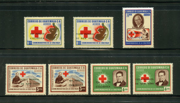 Guatemala Scott C291-8 Mint LH Set Redcross