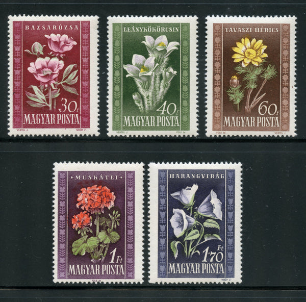 Hungary Scott 906-10 Flowers Mint NH