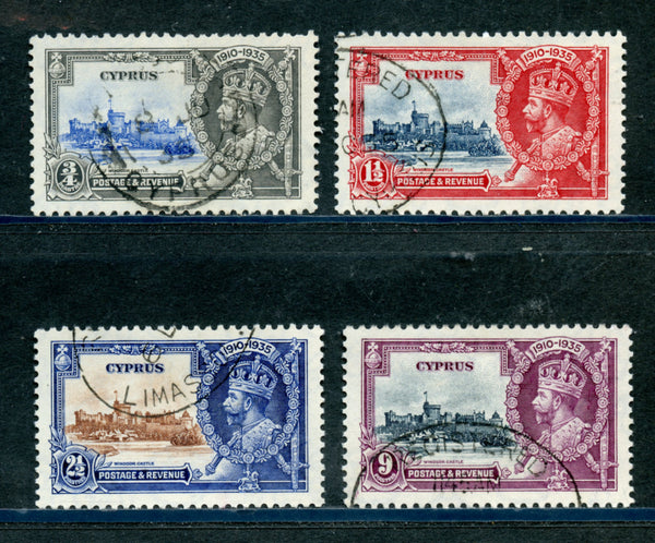 Cyprus Scott 136-39 Used Silver Jubilee Set