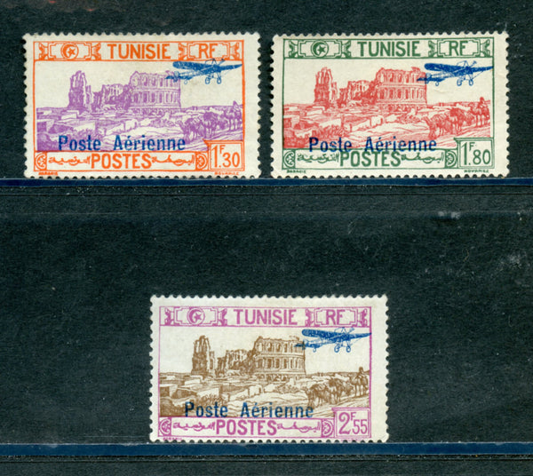 Tunisia Scott C7-9 Mint Hinged Except C8 No Gum