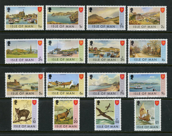 Isle of Man Scott 12-27 Mint NH  Set Animals