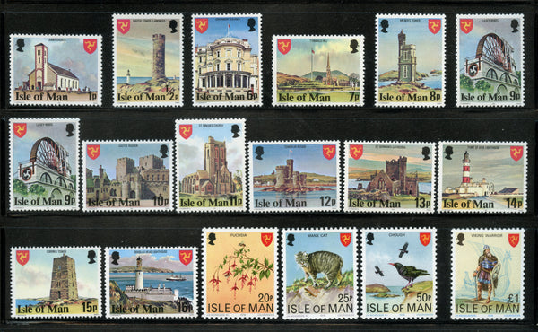 Isle of Man Scott 113-29 Mint NH  Set