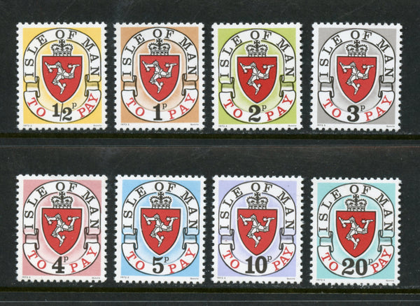 Isle of Man Scott J1a-8a Mint NH  Set