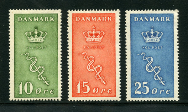 Denmark B3-5 Mint NH Gum Discoloration