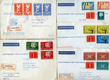 Netherlands 5 Registered PTT Covers Circa 1960's