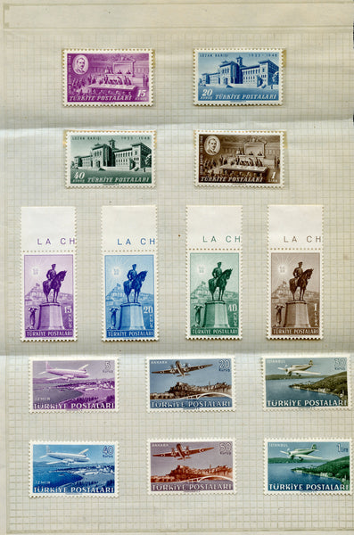 Turkey 3 Commemorative Sets Lightly Hinged Planes