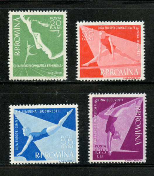 Romania Scott 1155-58 Women Gymnastics Mint Never Hinged