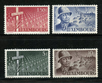 Luxembourg  Scott 242-45 PATTON Mint Never Hinged Set Military