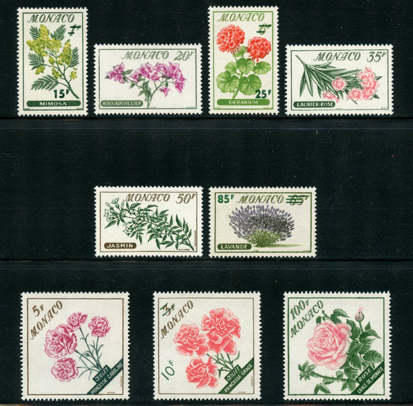 Monaco Scott 438-46 Flowers Mint Never Hinged