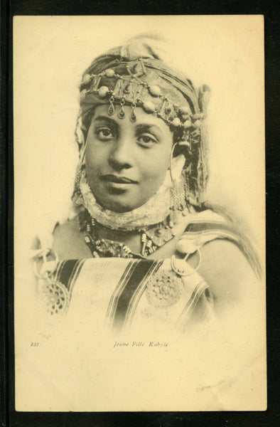 Algeria Vintage Postcard PC Post Card Kabyle Beauty Mailed to Toulouse